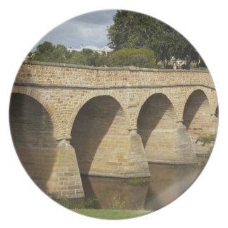 リッチモンド歴史的な橋(最も古いオーストラリア プレート