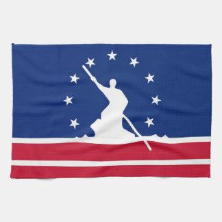 リッチモンド都市旗の統一されたな州アメリカヴァージニア キッチンタオル