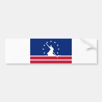 リッチモンド都市旗の統一されたな州アメリカヴァージニア バンパーステッカー
