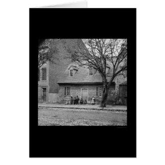 リッチモンド、VA 1865年の古い石造りの家 カード
