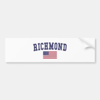 リッチモンドVA米国の旗 バンパーステッカー