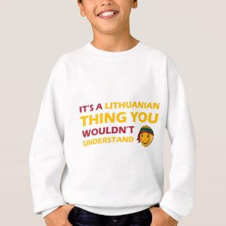 リトアニアのにこやかなデザイン スウェットシャツ