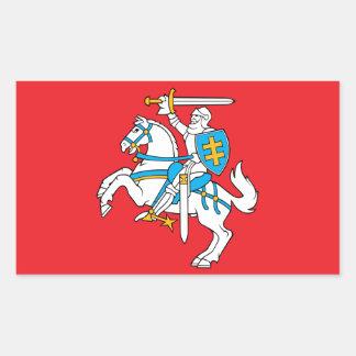 リトアニアの州の旗 長方形シール