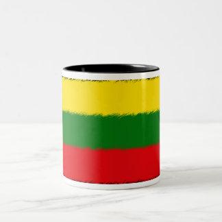 リトアニアの旗 ツートーンマグカップ