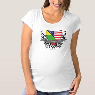 リトアニアアメリカの盾の旗 マタニティTシャツ
