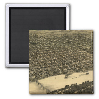 リトルロック(1887年)のヴィンテージの絵解き地図 マグネット