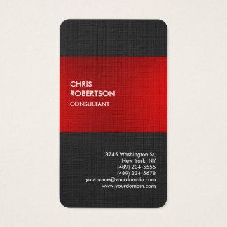 リネンスタイリッシュで赤い灰色のプロフィールカード 名刺