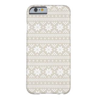 リネンベージュ公平な島のクリスマスのセーターパターン BARELY THERE iPhone 6 ケース
