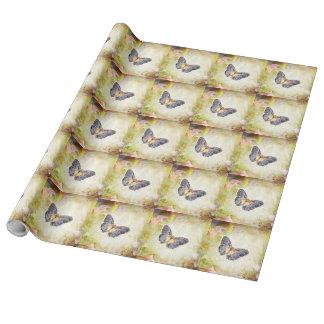 リネン蝶包装紙2' x6ロール ラッピングペーパー