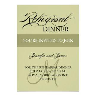 リハーサルの夕食の招待状の賢人のモノグラム カード