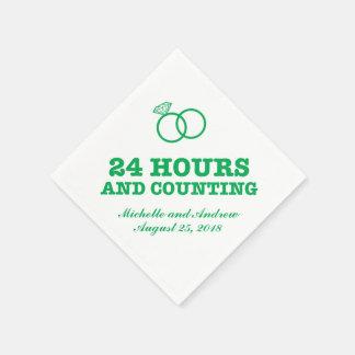 リハーサルの夕食| 24時間およびカウント スタンダードカクテルナプキン