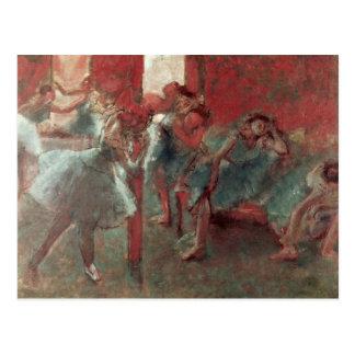 リハーサル1895-98年のエドガー・ドガ|のダンサー ポストカード