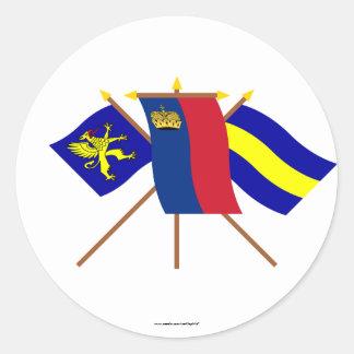 リヒテンシュタインおよびBalzersの旗 ラウンドシール