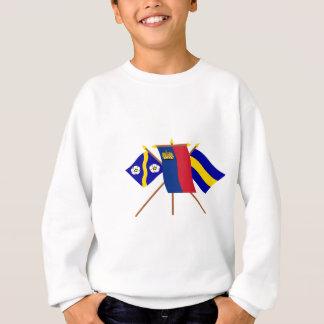 リヒテンシュタインおよびGamprinの旗 スウェットシャツ