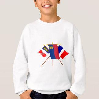 リヒテンシュタインおよびSchaanの旗 スウェットシャツ