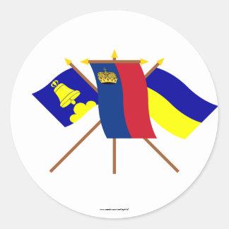 リヒテンシュタインおよびTriesenbergの旗 ラウンドシール