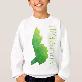 リヒテンシュタインの地図 スウェットシャツ
