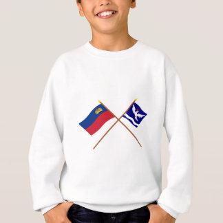リヒテンシュタインの旗およびEschenの紋章入りの旗 スウェットシャツ