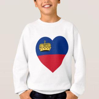 リヒテンシュタインの旗のハート スウェットシャツ