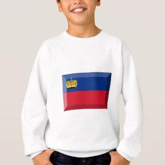 リヒテンシュタインの旗の宝石 スウェットシャツ