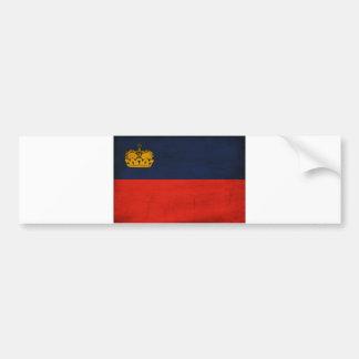リヒテンシュタインの旗 バンパーステッカー