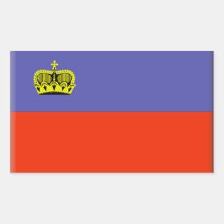 リヒテンシュタインの旗 長方形シール