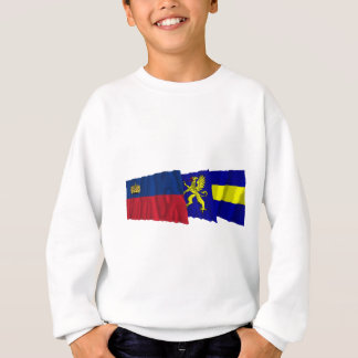 リヒテンシュタイン及びBalzersの振る旗 スウェットシャツ