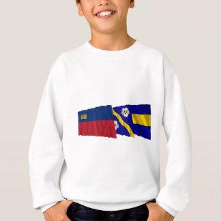 リヒテンシュタイン及びGamprinの振る旗 スウェットシャツ