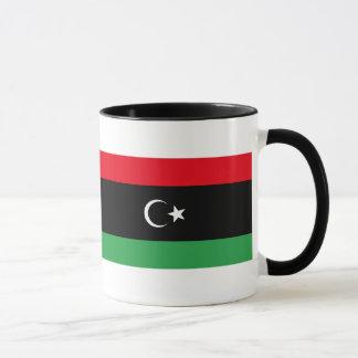 リビアのコーヒー・マグの旗 マグカップ