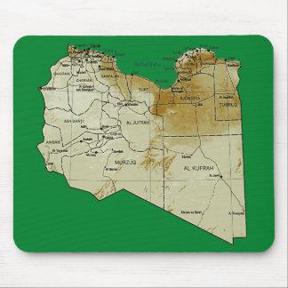 リビアの地図のマウスパッド マウスパッド