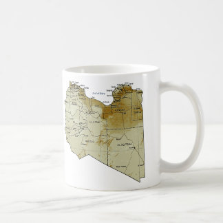 リビアの旗の~の地図のマグ コーヒーマグカップ