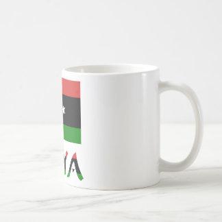 リビアの旗及び単語 コーヒーマグカップ