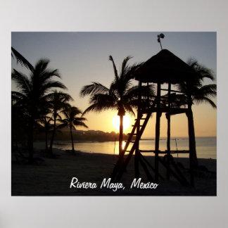リビエラのマヤのカンクンメキシコのカリブ海ポスター ポスター