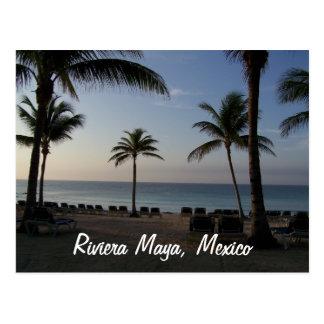 リビエラのマヤのカンクンメキシコのビーチの休暇 ポストカード