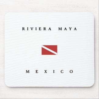 リビエラのマヤのメキシコのスキューバ飛び込みの旗 マウスパッド