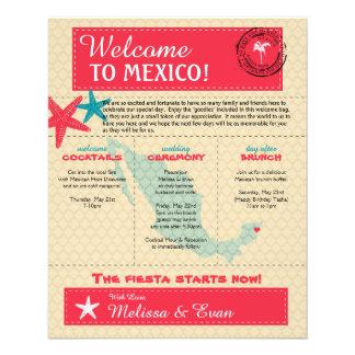 リビエラのマヤメキシコのための歓迎された手紙の結婚 チラシ