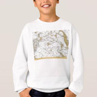 リビエラの金赤面の大理石 スウェットシャツ