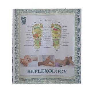 リフレクソロジーの完全な体ポスター体の精神nの心 ノートパッド