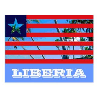 リベリアの旗 ポストカード