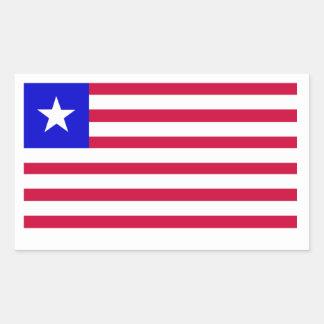 リベリアの旗 長方形シール