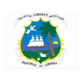 リベリアの紋章付き外衣 ポストカード