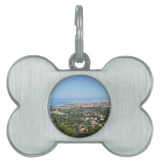 リボルノ都市、イタリアの豪華な空気のパノラマ ペットタグ