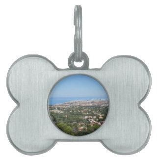 リボルノ都市、イタリアの豪華な空気のパノラマ ペットネームタグ