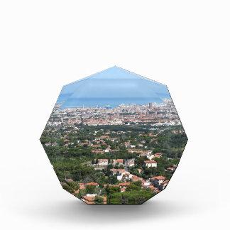 リボルノ都市、イタリアの豪華な空気のパノラマ 表彰盾
