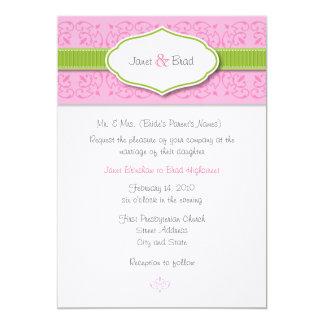 リボンおよびシールの結婚式招待状 カード