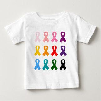 リボンのアンチ癌 ベビーTシャツ