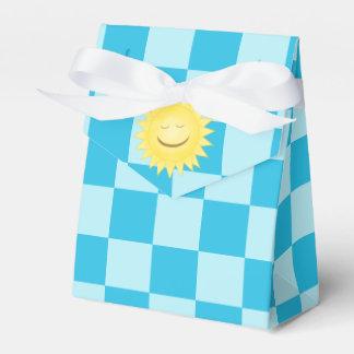 リボンの好意箱1が付いているにこやかな日曜日の青い点検のテント フェイバーボックス