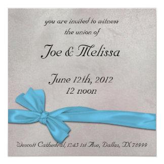 リボンの結婚式招待状 13.3 スクエアインビテーションカード