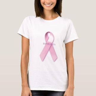リボンのEsperanzaのピンクのTシャツ Tシャツ