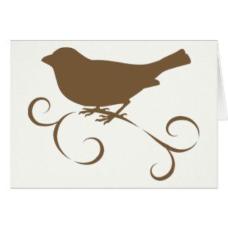 リボンを持つチョコレートすずめ カード